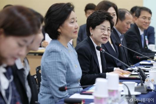 [사진]여성기업인 간담회 발언하는 정윤숙 회장