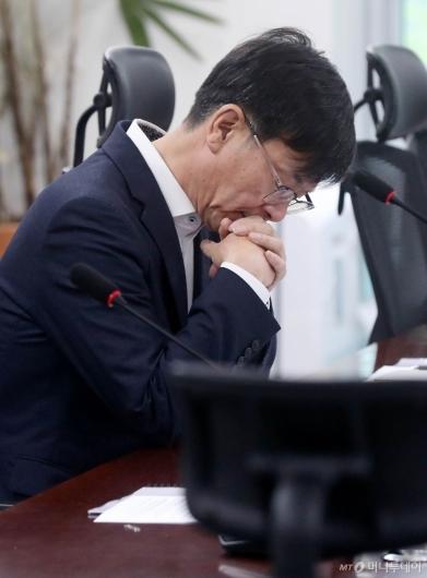 [사진]김상조, 정무위 소관부처 예산 및 법안 고민