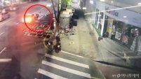 [영상]도로 건너던 시민 치고 달아난 뺑소니범