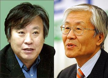 ↑ 소설가 이문열 씨(왼쪽, ⓒ머니투데이DB)-조갑제 전 월간조선 대표(ⓒ뉴시스)