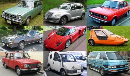 ↑미국의 경제주간지 비지니스 위크는 지난 50년동안 생산된 차 중 가장 못 생긴차 50선을 선정해 발표했다.<br />