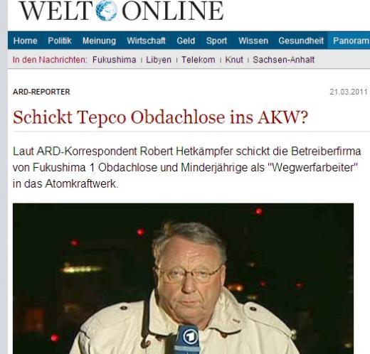 ↑ 독일 일간지 벨트 온라인 기사 캡처.