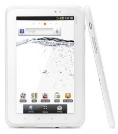 ↑아이리버의 첫 태블릿PC '아이리버탭'