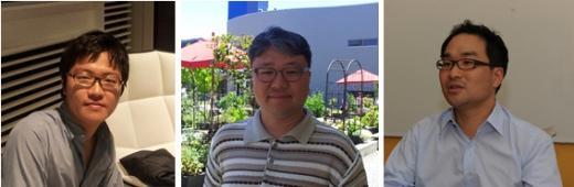 ↑ 유경상 구글 마케팅 매니저, 황성현 구글 비즈 파트너, 정기현 구글북스 프로덕트매니저(왼쪽부터)