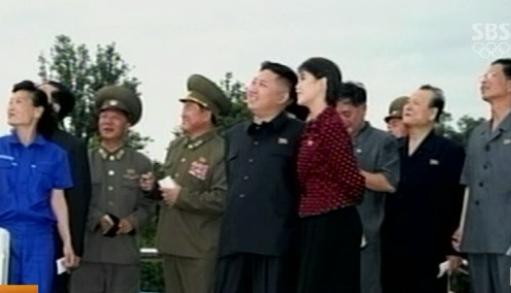 김정은 북한 노동당 제1비서가 평양시내 능라인민유원지 준공식에 참석할 당시 보도화면. ⓒSBS