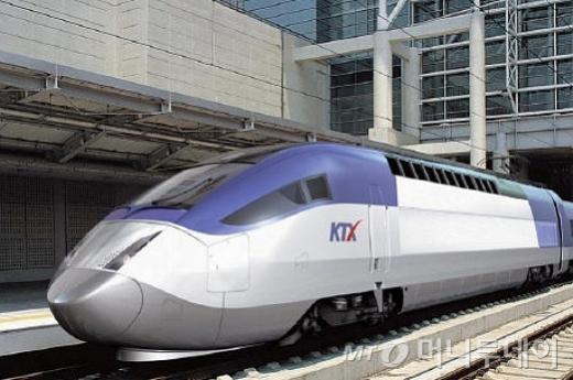 ↑KTX(고속철도) 모습.ⓒ코레일 제공