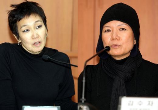 ↑오는 6월부터 베니스에서 열리는 <2013 제55회 베니스 비엔날레>의 한국관 커미셔너 김승덕 큐레이터와 한국관에 단독으로 참여하게 된 김수자 작가.