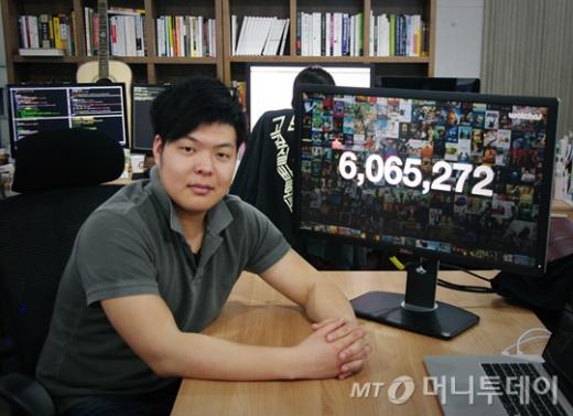 ↑박태훈 프로그램스 대표. 프로그램스가 지난해 선보인 8월 영화평점 서비스 '왓챠'는 600만건 이상의 평점을 확보 네이버 영화를 추월했다.