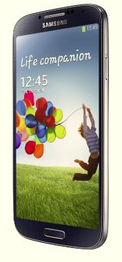 ↑아몰레드를 채택한 대표적인 스마트폰인 '갤럭시S4'.