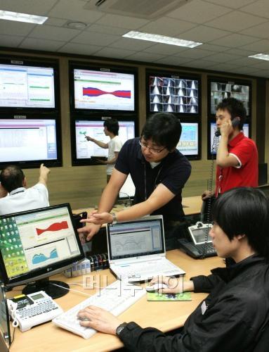 한 국내 IT서비스회사의 관제센터.