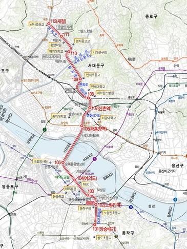 경전철 서부선 노선