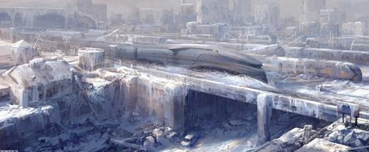 영화 속 '설국열차'를 묘사한 그림/자료=CJ