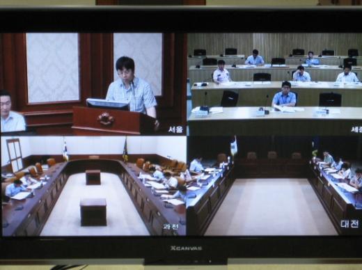 정부의 화상회의 개최사진 / 사진=안전행정부
