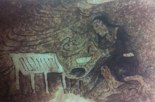 <집안 사신총(集安 四神塚), 붓의 신> /사진=『문자, 그 이후』,국립중앙박물관, 2011년, 240쪽.