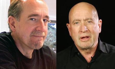 왼쪽은 머리를 밀기 전 랜디 아담스. 오른쪽은 민 이후. <사진: 위키피디아, 포브스>