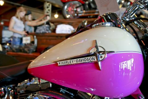 미국 유타주 린든에 있는 한 매장에 할리데이비슨이 전시돼 있다. /사진=블룸버그
