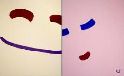 이목을, smile-11031, 363.6x227.3cm, 캔버스에 아크릴, 2011