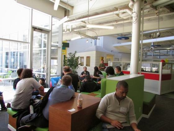 구글 직원들이 회의하는 모습. /마운틴뷰=유병률기자