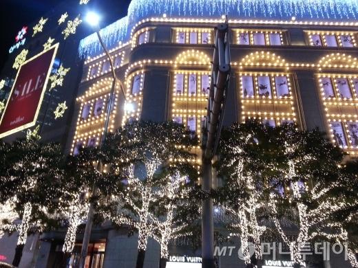 2013년 11월28일 저녁7시 서울 신세계본점.