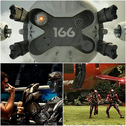 (사진 上 시계방향)'오블리비언', '엘리시움', '리얼스틸' 영화 속 한 장면/사진=소니 픽쳐스 릴리징 월트 디즈니 스튜디오스 코리아, 롯데엔터테인먼트,