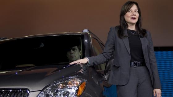 미국 자동차회사 GM(제너럴모터스)가 최근 차기 CEO(최고경영자)로 내정한 메리 바라 글로벌 제품 개발 및 구매, 공급망 담당 수석 부사장. /사진=블룸버그