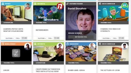 교육게임 포털인 에듀케이드(educade.org)에 올라온 교육용 게임 사례들. 1000여개 비디오 게임, 보드 게임 등을 무료로 이용할 수 있다.