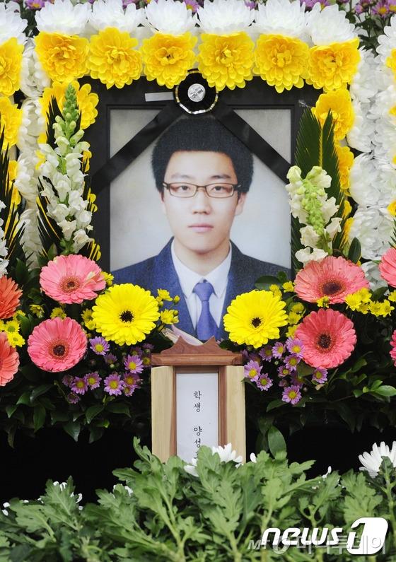 후배들을 구하려다 목숨을 잃고만 의인 양성호씨./ 사진=뉴스1