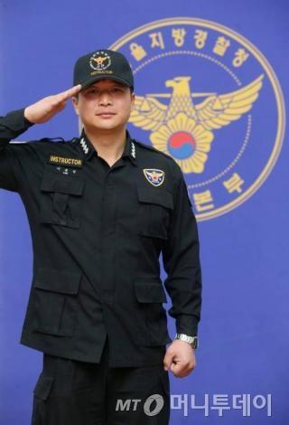 지난 21일 서울지방경찰청 기동본부에서 만난 이춘성 훈련교관./사진=이동훈 기자