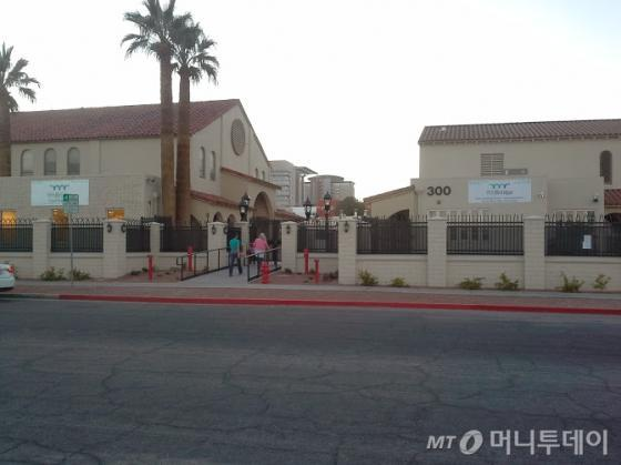교회를 개조한 새로운 모델의 학교, 나인브리지(9th Bridge). /라스베가스=유병률기자