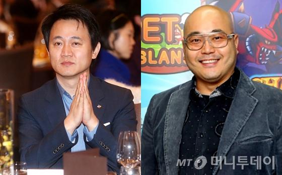 방준혁 CJ E&M 넷마블 상임고문(왼쪽)과 남궁훈 게임인재단 이사장