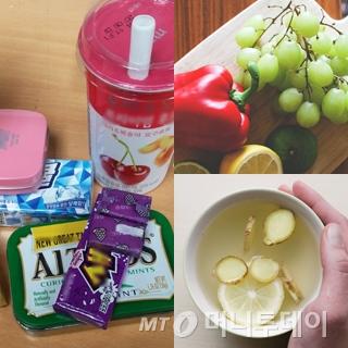 군것질이 당긴다면 과자와 커피 보다는 과일이나 차를 선택해 보자./사진=마아라 기자