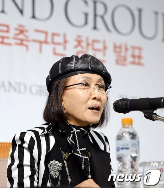 이랜드그룹 축구단 구단주를 맡게된 박성경 이랜드그룹 부회장. /사진=News1<br /> <br />