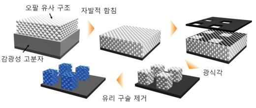 광식각 기반의 광결정 미세패턴 형성 공정도/사진=KAIST