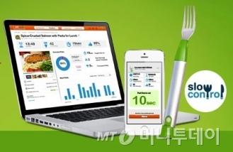 식사속도 조절을 돕는 해피포크 /사진=해피랩 홈페이지 캡처