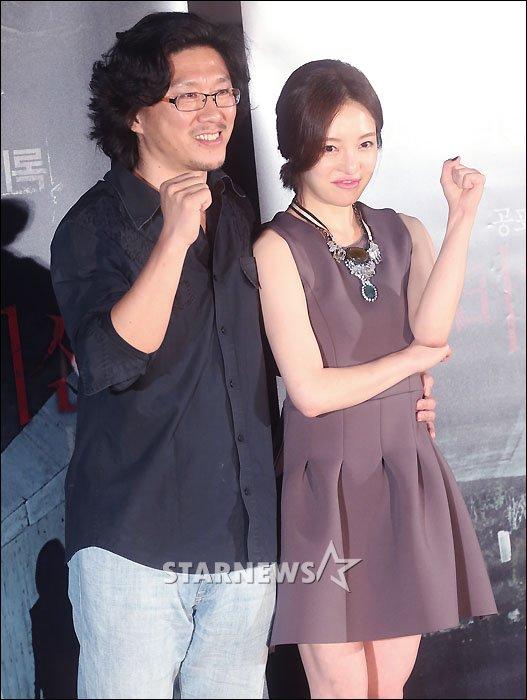 (왼쪽부터)장권호 감독, 황보라/사진=홍봉진 기자