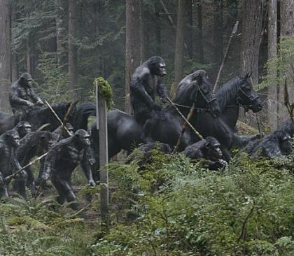 '혹성탈출: 반격의 서막'의 한 장면/사진=이십세기폭스사