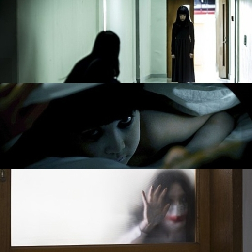 (사진 상단부터)'분신사바2', '주온: 끝의 시작', '소녀괴담'의 한 장면/사진=팝엔터테인면트, NEW, 리틀픽쳐스