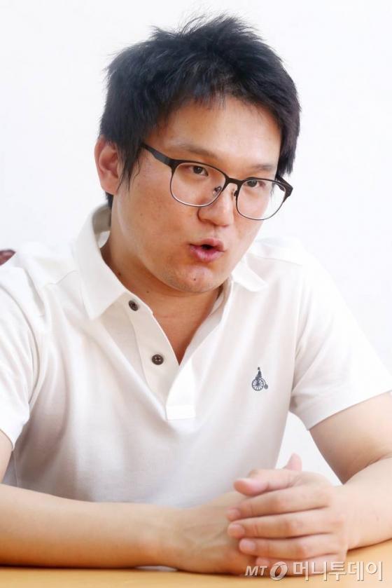 종암경찰서 사이버수사팀 송태욱 경장 / 사진=이기범 기자