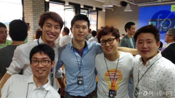 (왼쪽부터)김수곤, 안영석, 정경환, 김수, 채용욱 퓨처플레이 인벤터/사진=강상규 소장