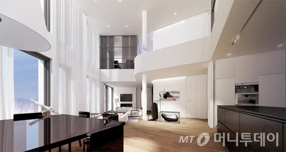 서울 강남구 봉은사로(삼성동) 인근에 위치한 '라테라스' 복층형 내부 인테리어 모습. / 자료제공 = 분양업체