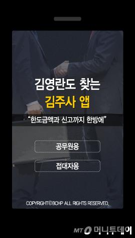 """""""김 과장님, 접대한도 100만원 남았습니다"""""""