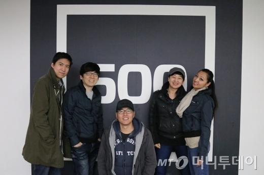 스파이카의 박홍민 이사,(왼쪽부터) 김흥주 이사, 조지욱 이사, 김호선 대표, 에밀리