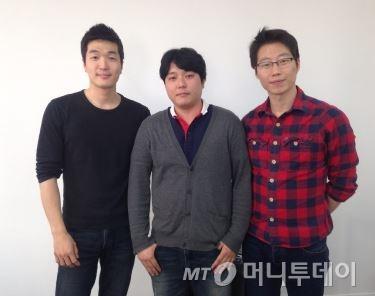 왼쪽부터 렌딧의 김성준 대표, 김유구 이사, 박성용 이사/사진=이해진 기자