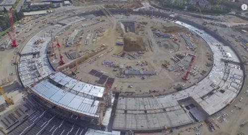 건설중인 애플 신사옥