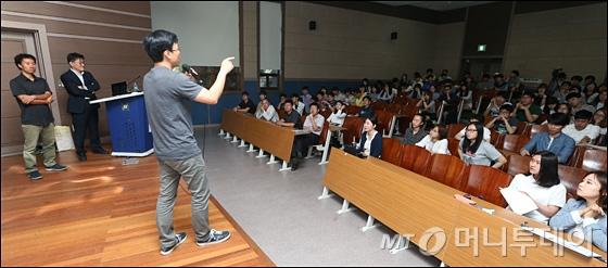 [사진]구글 이준영-홍콩과기대 김성훈 '재미 그리고 설레임' 토크쇼 개최