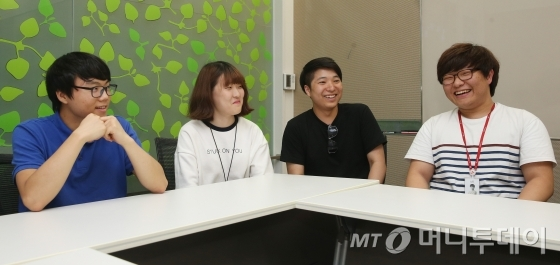 ↑(사진)왼쪽부터 박정현, 김해슬, 이영민, 노세호씨<br /> /사진=이동훈 기자<br />