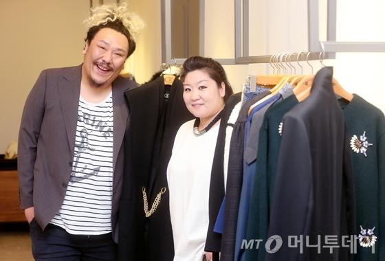 '맥앤로건'의 디자이너 강민조(왼쪽) 강나영/사진=홍봉진 기자