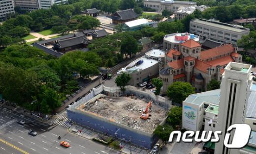 [사진]서울지방국세청 남대문 별관 철거