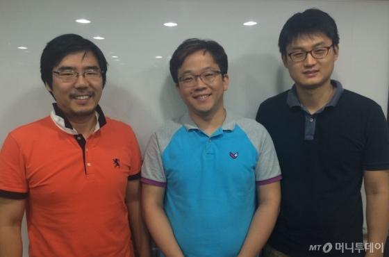 뷰노코리아 창업멤버 3인방. (왼쪽부터)김현준 CSO, 이예하 대표, 정규환 CTO/사진=방윤영 기자