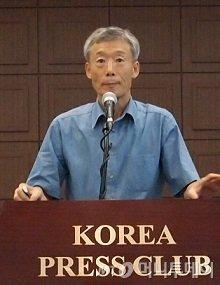 고영하 한국엔젤투자협회 회장이 '창조사회로 가는 길'이란 주제로 강연을 하고 있다/사진=중기협력팀